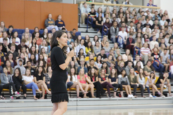 """Farrah Khan speaks to incoming students at Queen's about consent and sexual violence"""