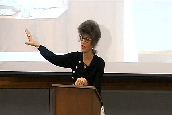 [Dr. Shoshana Zuboff gives a lecture on surveillance capitalism (Photo: Surveillance Studies Centre)]