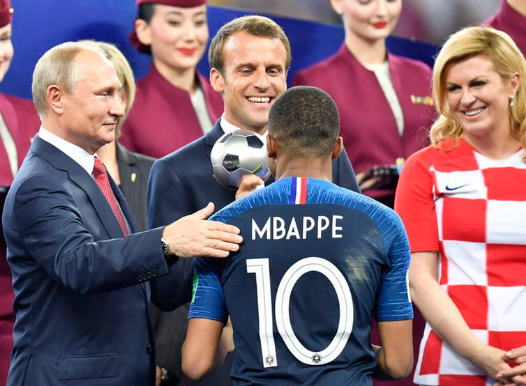 [Presidents Putin, Macron and Grabar-Kitarovic]