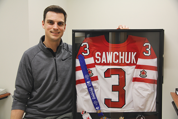 James Sawchuk, athletic therapist