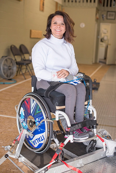 [Rossana Pasquino is a world-class athlete in wheelchair fencing]