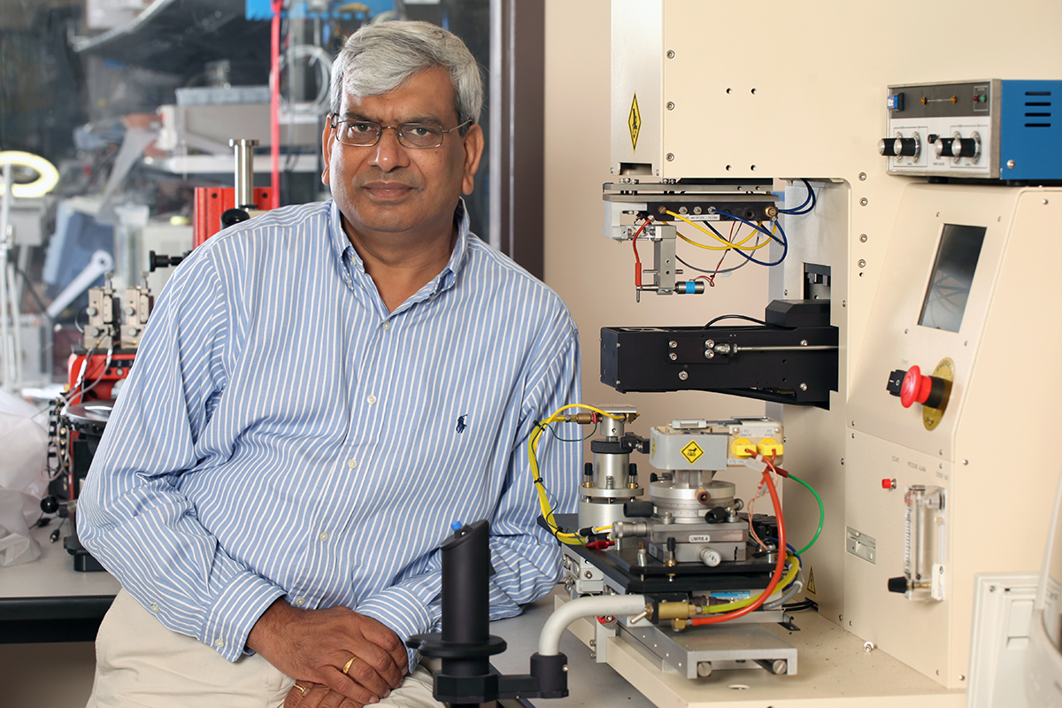 Preveen Jain shows off his lab