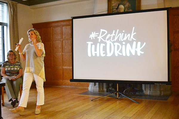 """Catherine Paradis speaks at Rethink the Drink"""