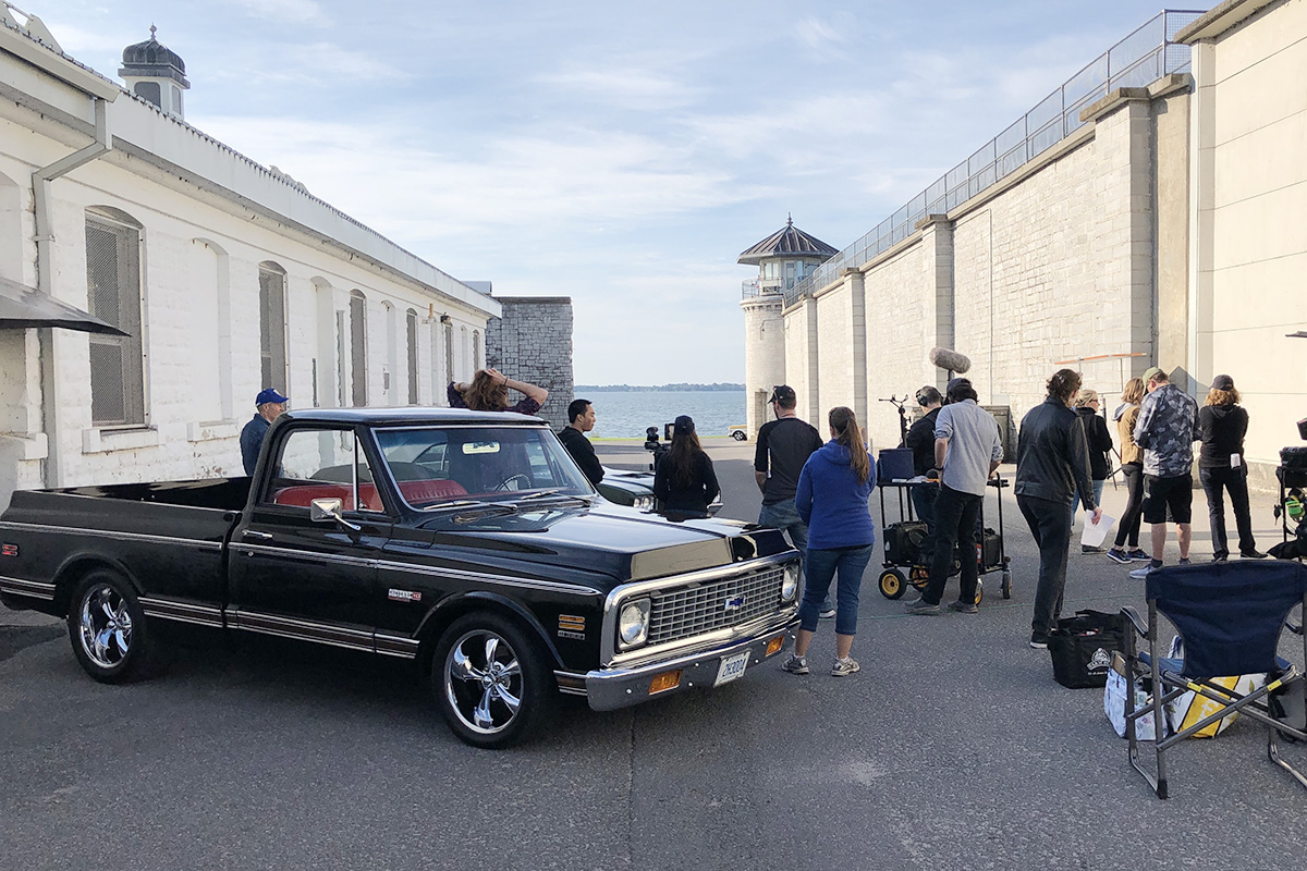 The Prize is filmed beside the Kingston Penitentiary