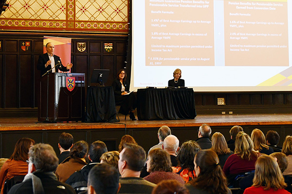 [University Pension Plan town hall at Grant Hall]
