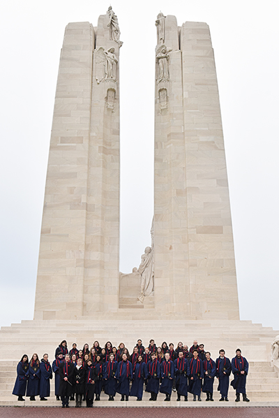 BISC group at Vimy Memorial
