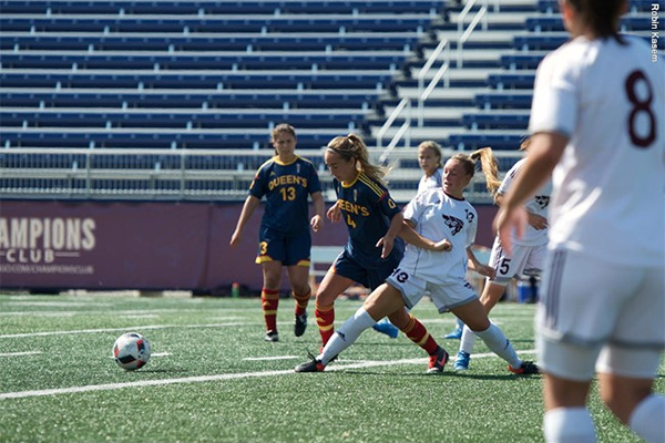 """Queen's Gaels play Ottawa Gee-Gees in women's soccer."""