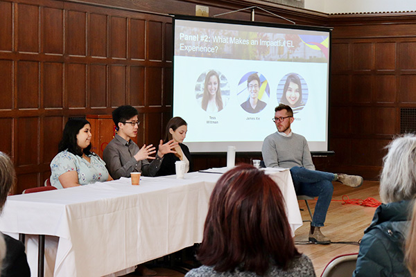 [Student panel at Experiential Learning Summit]