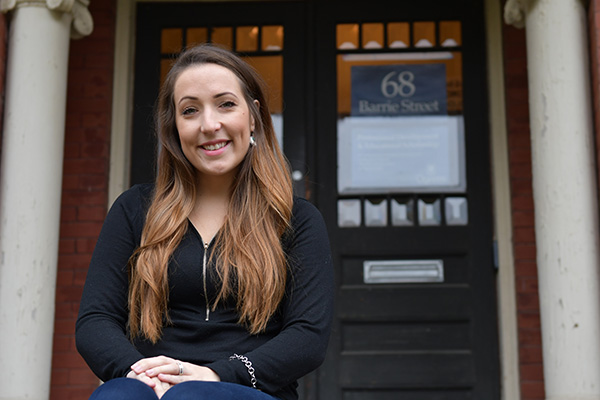 Indigenous Access and Recruitment Coordinator Cortney Clark is helping Indigenous students find their way into health sciences programs, navigate the university, and thrive in their time at Queen's.