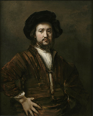 [Rembrandt - Man with arms Akimbo]