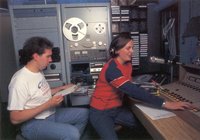 [photo of CFRC programmers in 1997]