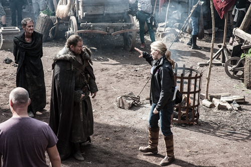 [Michelle MacLaren on the set of Game of Thrones (photo: Helen Sloan/HBO]