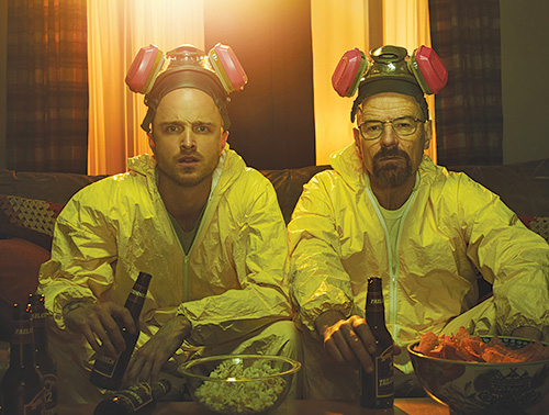 [photo of Aaron Paul and Bryan Cranston of Breaking Bad]