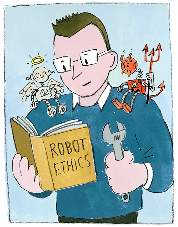 [illustration of 'robo-ethicist'