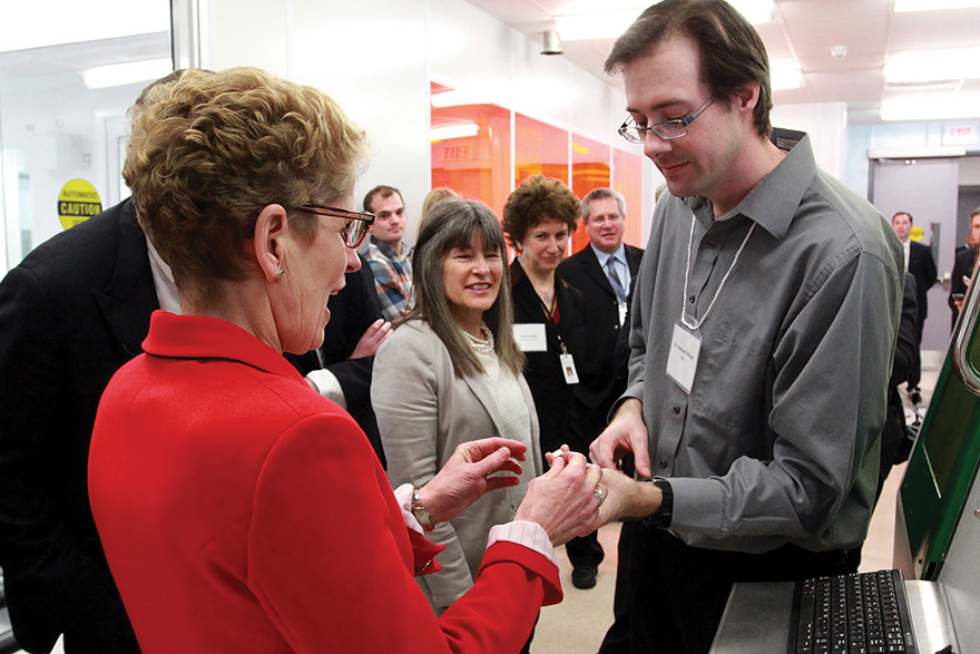 [photo of Ontario Premier Kathleen Wynne at NFK]