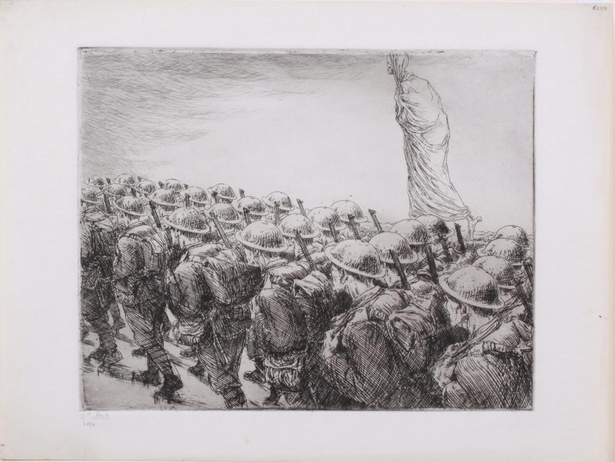 [photo of etching titled Death Marches