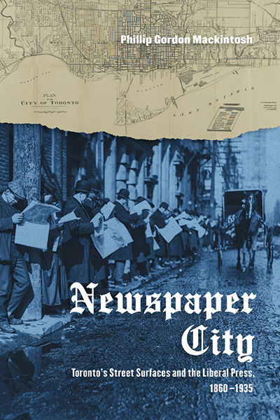 [cover graphic of Newspaper City by Philip Gordon Mackintosh]