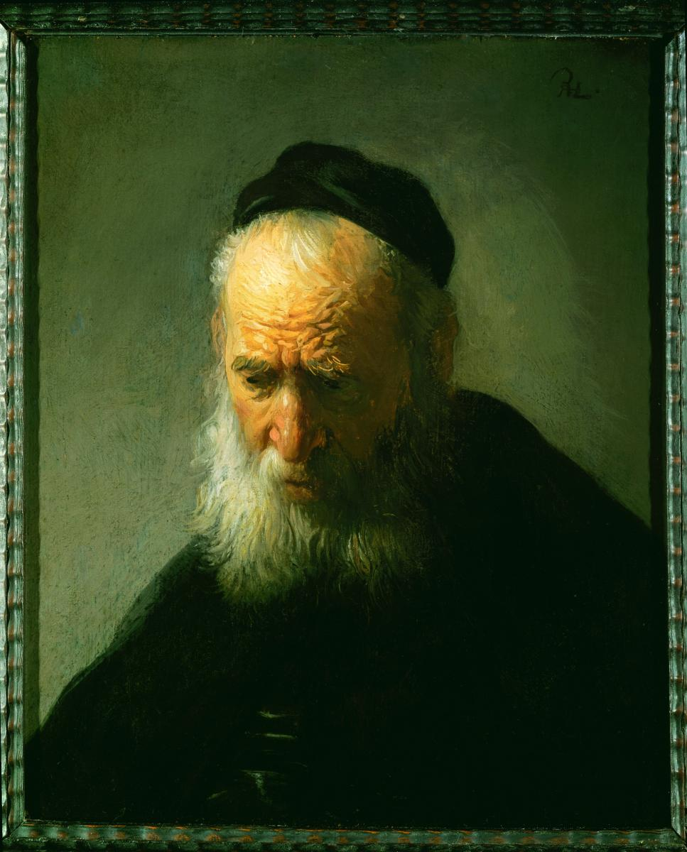 [photo of Rembrandt's Head of an Old Man in a Cap]