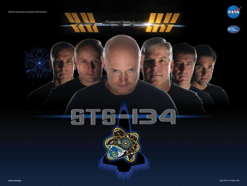 [Mission poster of STS-134]