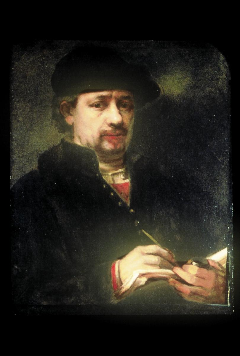 [image of Portrait of Rembrandt with a Sketchbook, by one of his followers]