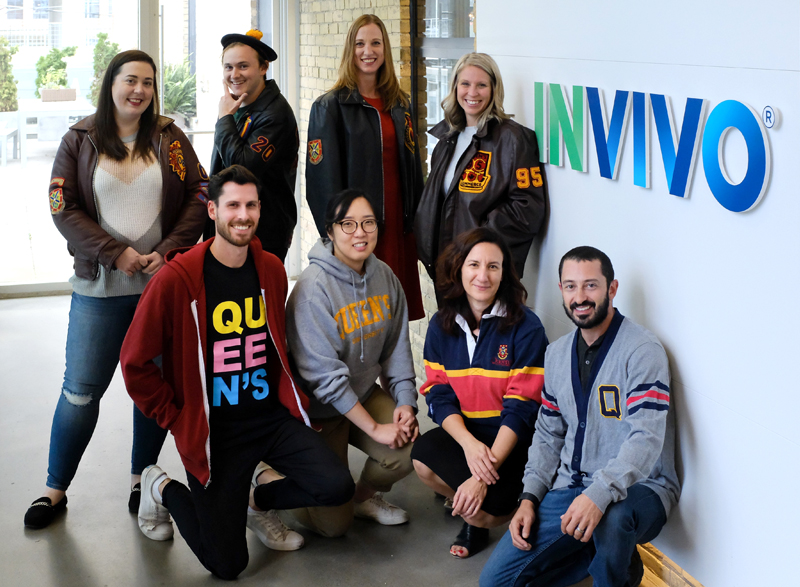 [group photo of Queen's alumni who work at INVIVO in Toronto]