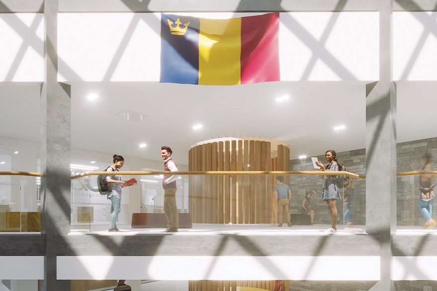 Architectural rendering of the revitalized JDUC Ceilidh