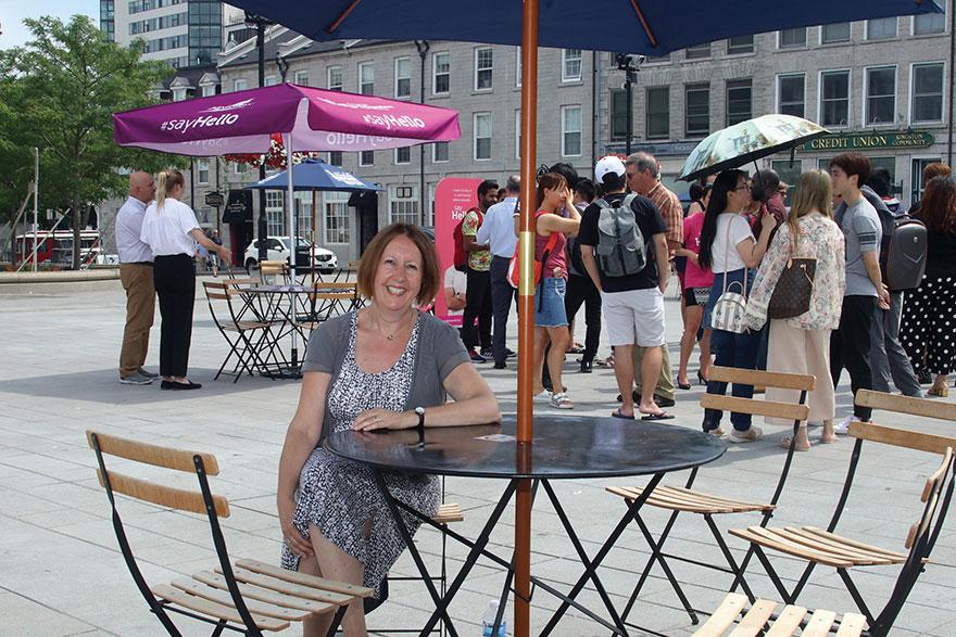 [photo of Monica Stewart at Kingston's Springer Market Square]