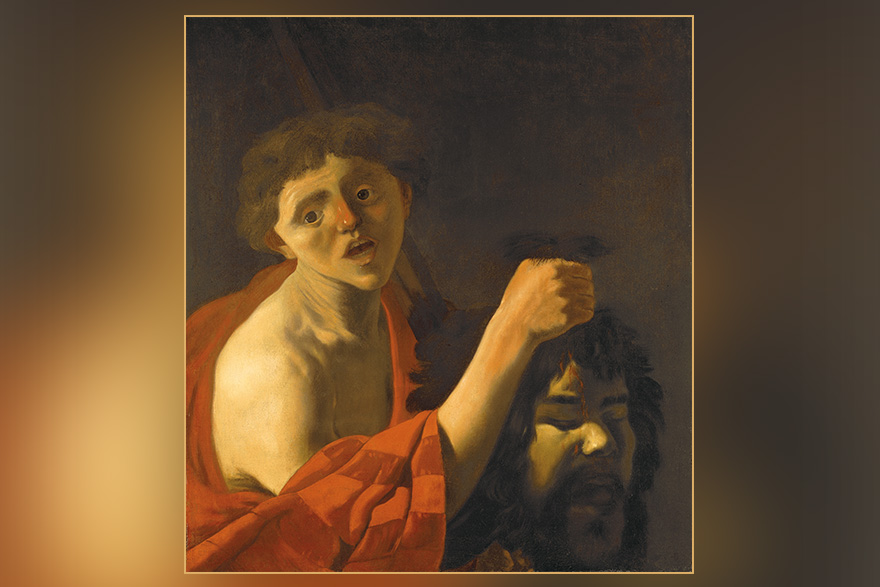 [photo of painting David with the Head of Goliath]