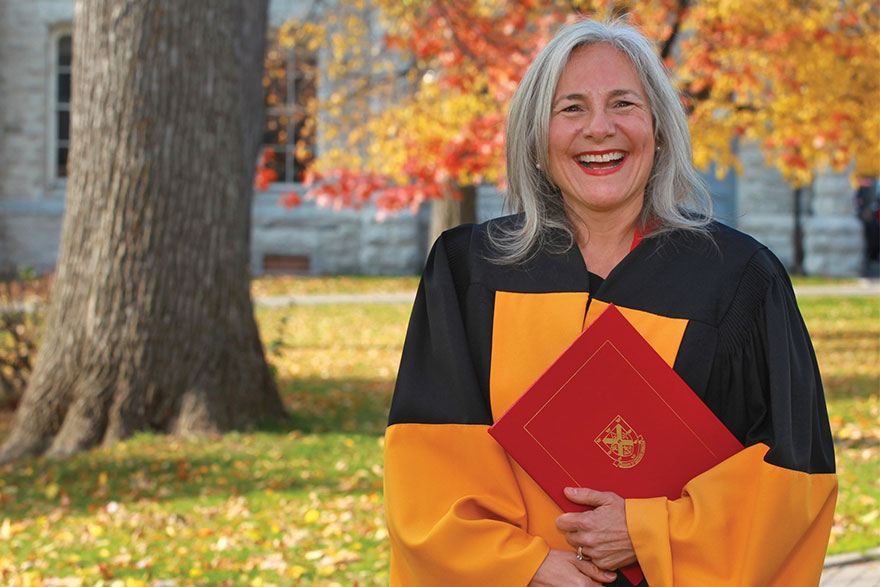 [photo of Carol Ann Budd at Queen's convocation 2016]