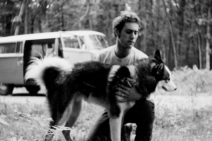 [photo of Douglas Shane and his dog]