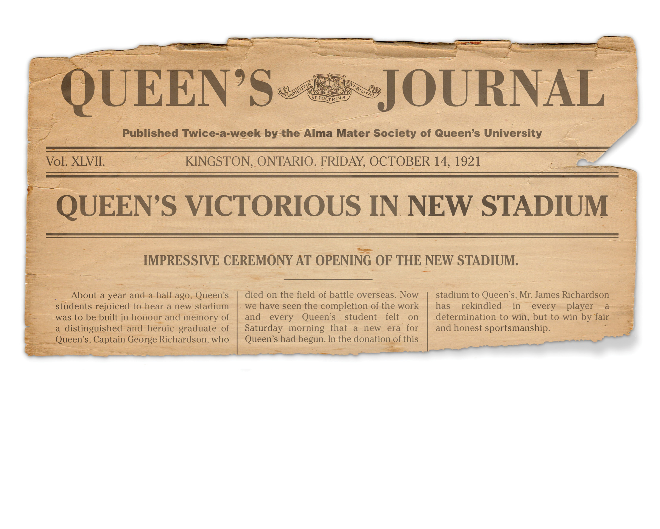 [photo of Queen's Journal from 1922]