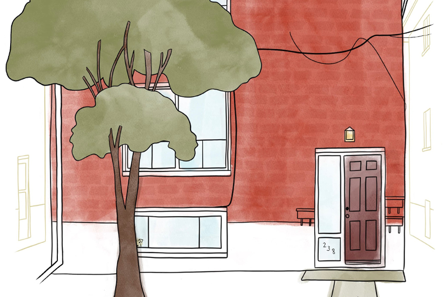 illustration of 238 Victoria Street triplex