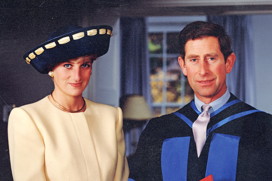 [photo of the Prince and Princess of Wales, 1991]