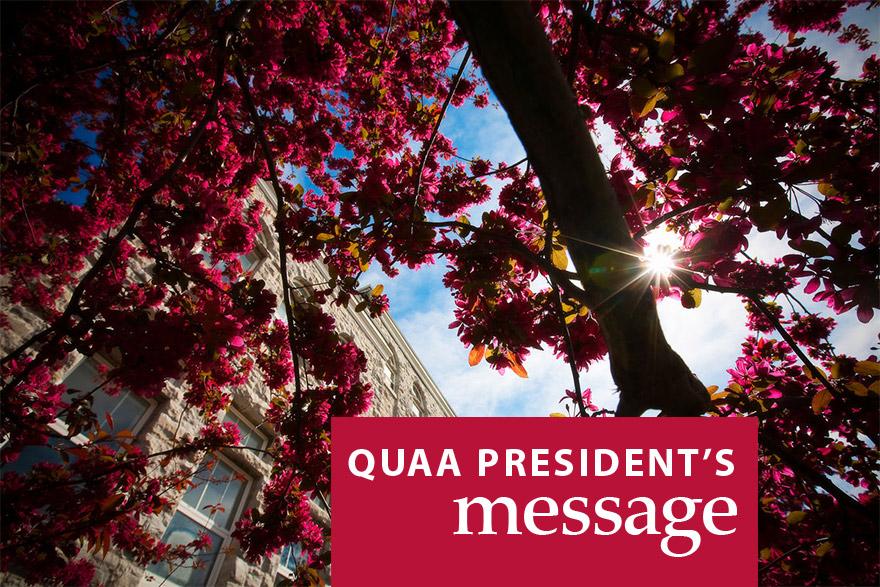 [QUAA president's message]