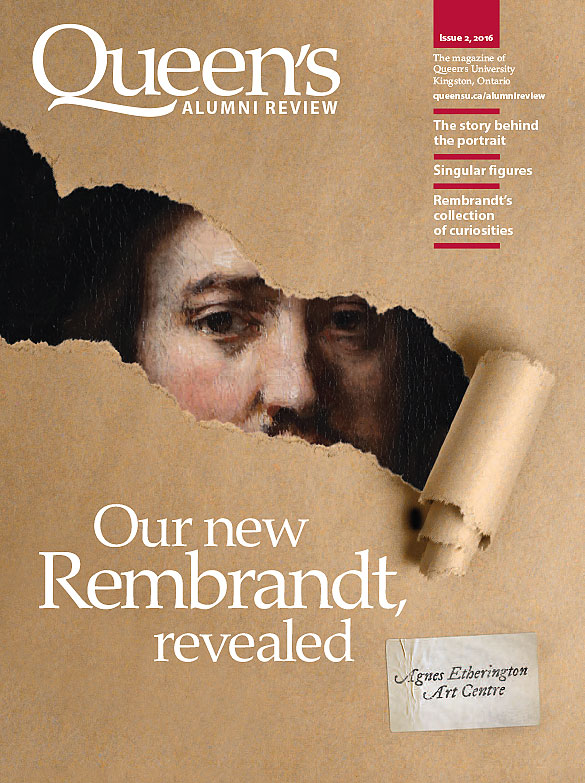 [cover graphic of Queen's Alumni Review, issue 2-2016]