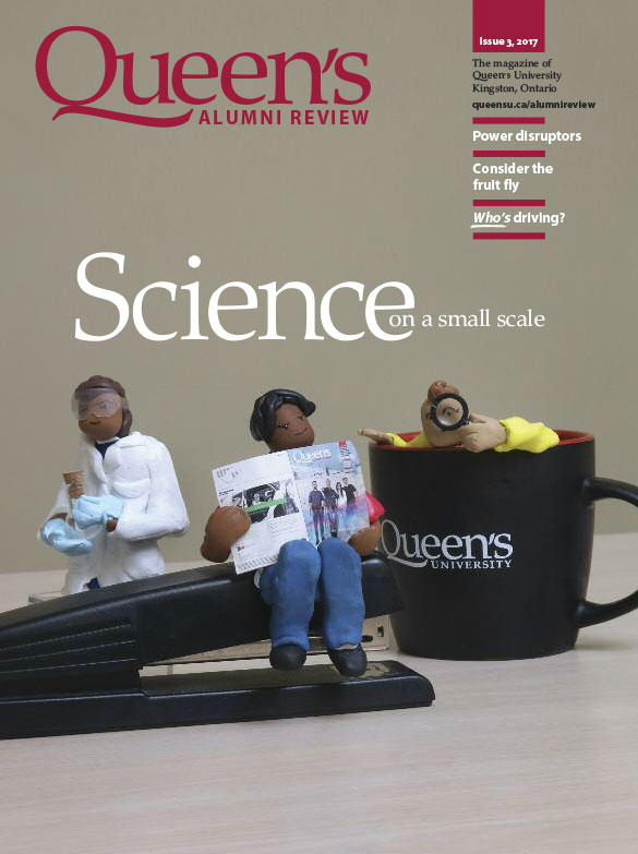 [cover graphic of Queen's Alumni Review, issue 3, 2017]