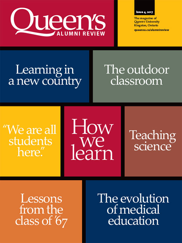 [cover graphic of Queen's Alumni Review, issue 4-2017]