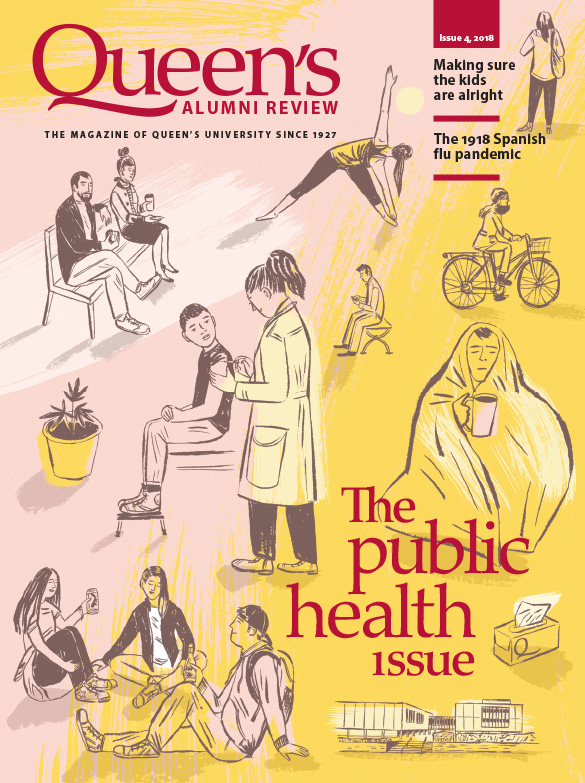 [illustration for 'the public health' issue of the Queen's Alumni Review]