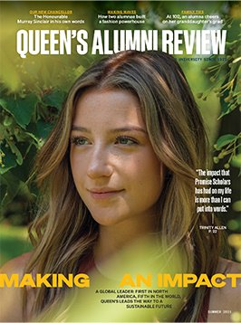 graphic of cover of Queen's Alumni Review, issue 2, 2021
