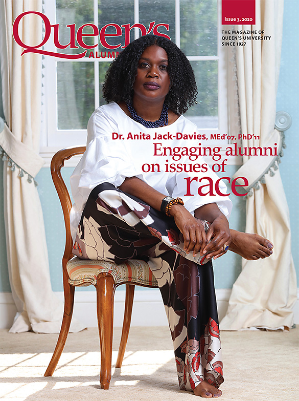 [cover image of the Queen's Alumni Review issue 3, 2020, featuring Anita Jack-Davies]