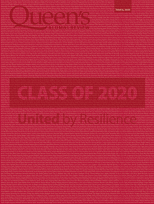 [graphic of cover of Queen's Alumni Review issue 4, 2020]