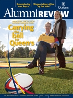 [Queen's Alumni Review 2012-4 cover]