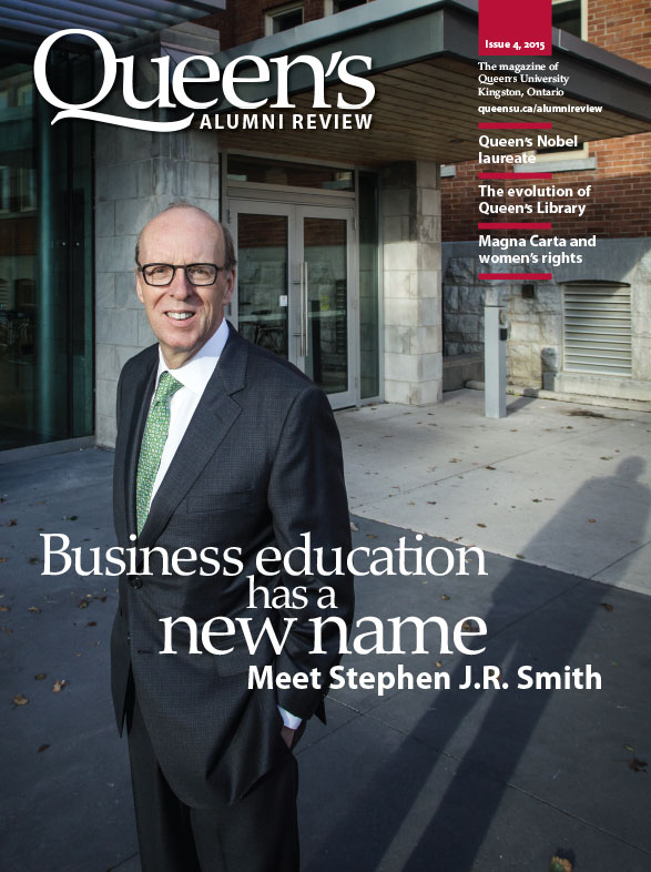 [Queen's Alumni Review 2015 Issue 4 cover]