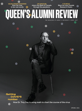 graphic of cover of Queen's Alumni Review, issue 1, 2021