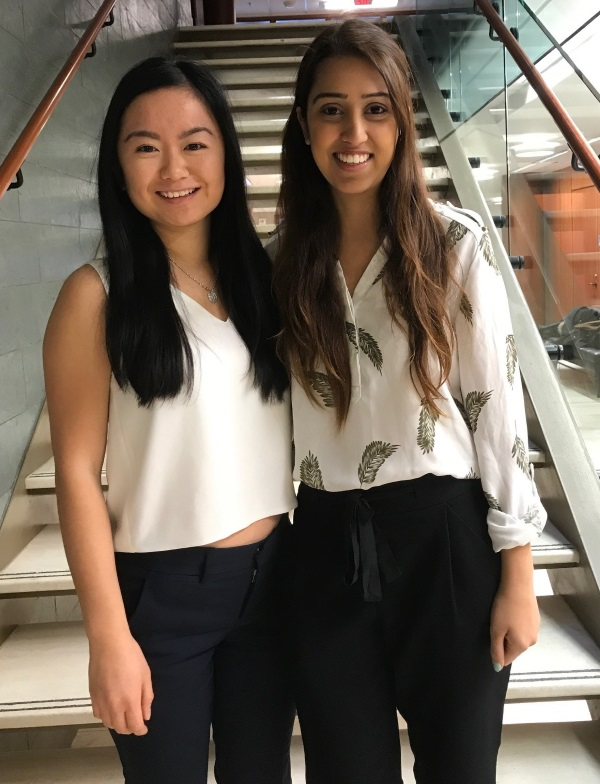 Lisa Xiong and Sara Majeed