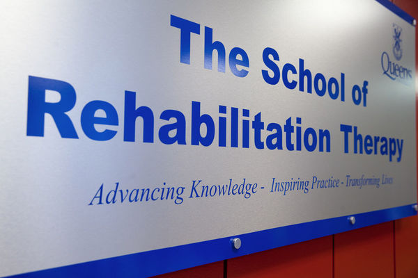 [School of Rehabilitation Therapy sign]