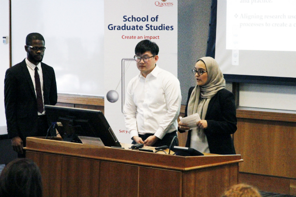 Students speaking at last year's PhD-Community Initiative event