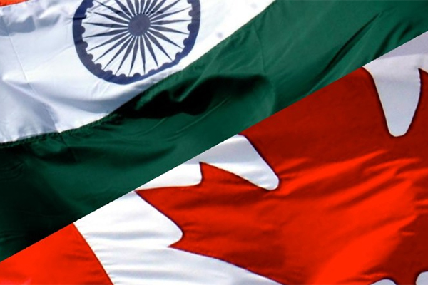 """India and Canada flags"""