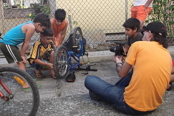 Pedal-powered film
