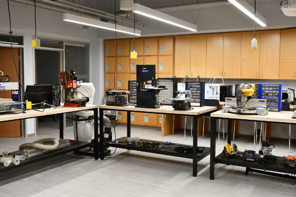 DDQIC's SparQ Studios Makerspace inside the Rose Innovation Hub